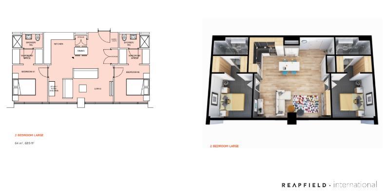 floorplan 2 bedrooms